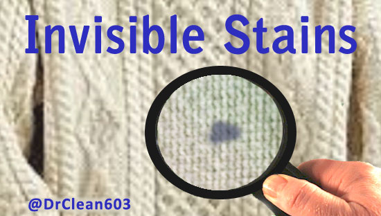 invisible stains on your clothes