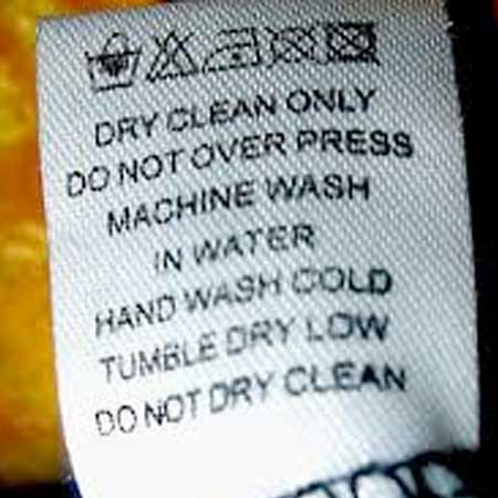 Do not dryclean label